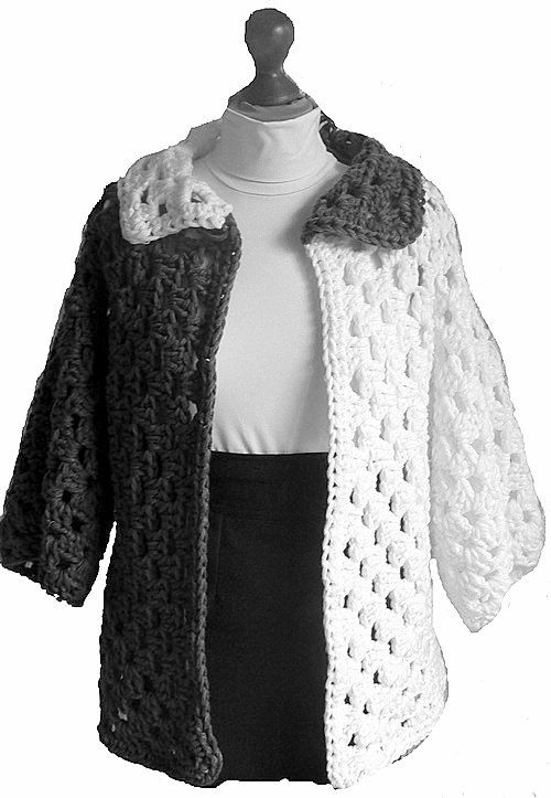 Crochet Chunky Afghan Jacket Granny Square Cardigan Women Men Clothing Fashion Accessories Gift Ideas Made to Order