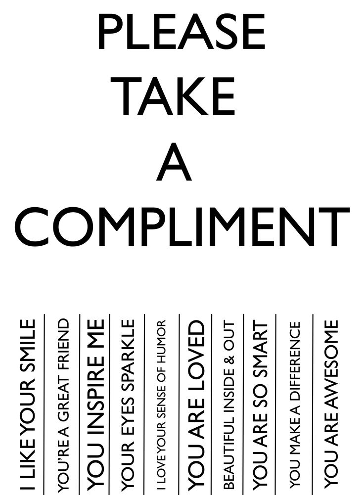 POSTER ART : PLEASE TAKE A COMPLIMENT By Lollybug & Studio