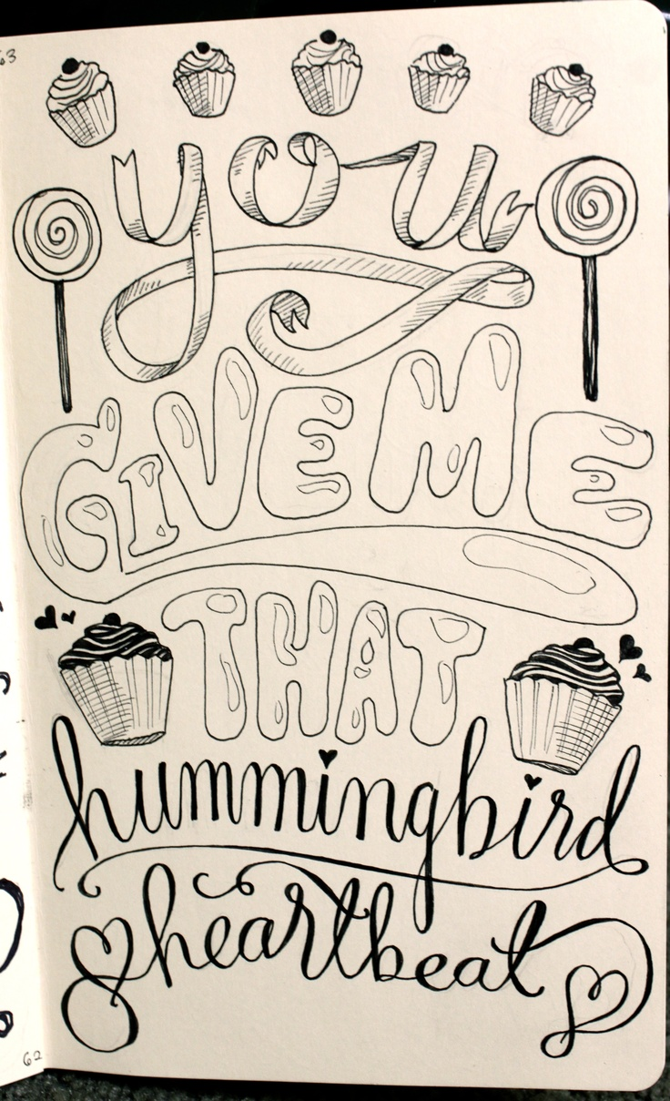 Plastic bag katy perry lyrics - Art By Andy Simmonds Rooney Handlettering Words From Katy Perry Hummingbird Heartbeat