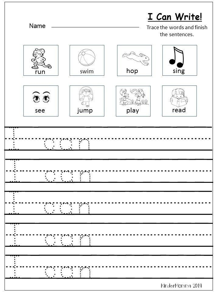 Free Writing Printable (Kindergarten And First Grade) Writing Worksheets  Kindergarten, Kindergarten Writing Prompts, Kindergarten Writing