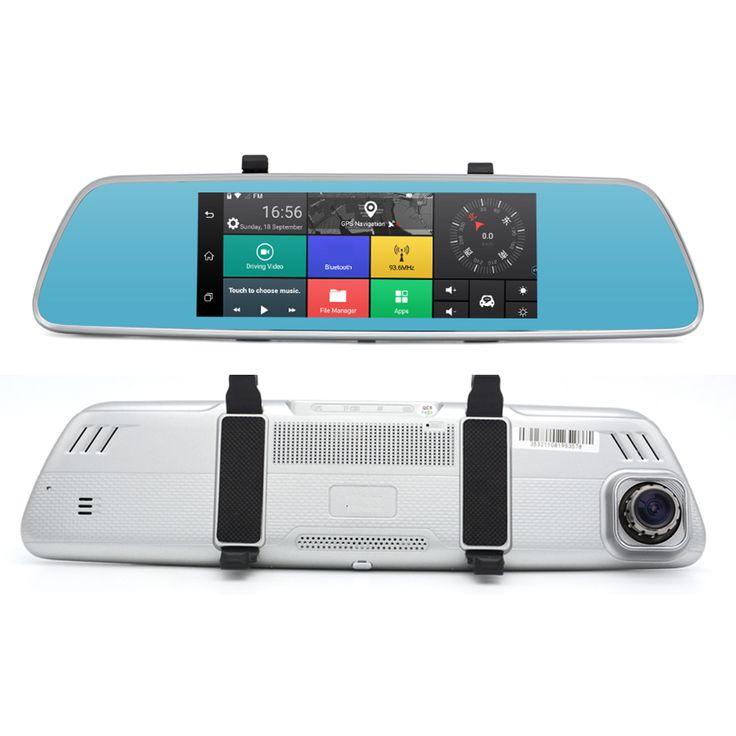 Junsun A760 3G 7 Inch Car DVR Mirror Video Camera  Full HD 1080P Android 5.0 Dash cam 16GB Dual Lens