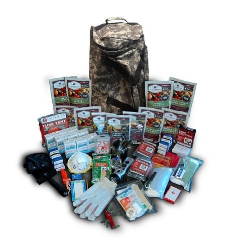 Wise Foods Deluxe Camo Survival Backpack-2 Week Kit For 1 Person