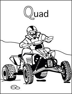 Alfabet Kleurplaat Q Van Quad Kleurplaten Colorings
