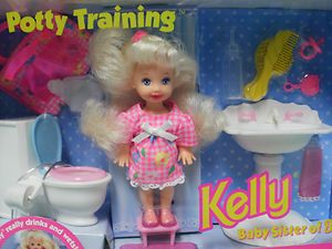 kelly dolls mattel   Mattel Barbie Kelly Doll Potty Training 1996   eBay