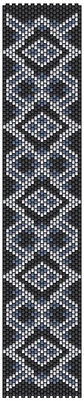 pencio - grille pattern peyote bracelet