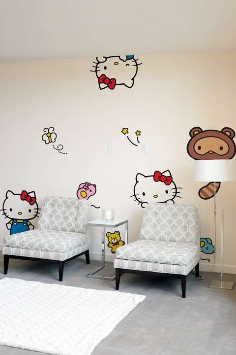 Famous Feline Furnishing Stickers - Hello Kitty Wall Decals Bring Girly Cuteness to a Room (GALLERY)