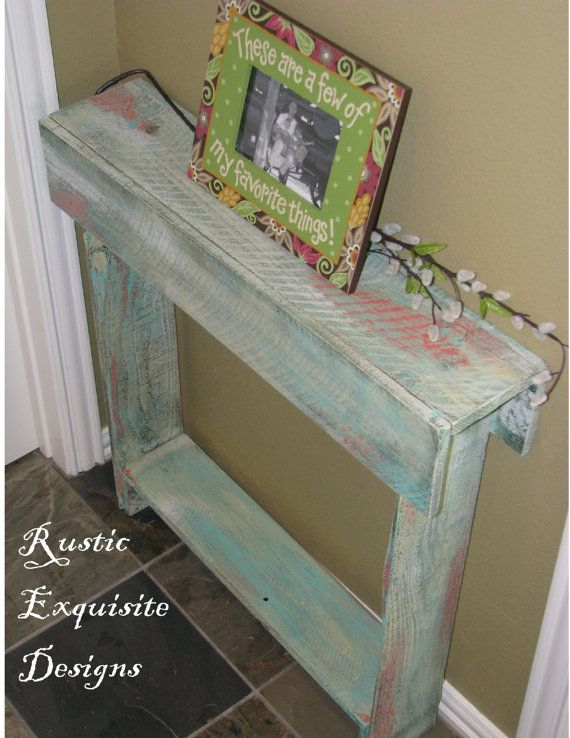 Wooden Skinny Wall Table for Entry Way or by RusticExquisiteDsgn, $75.00