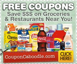 Get FREE coupons for grocery items and Restaurants too!
