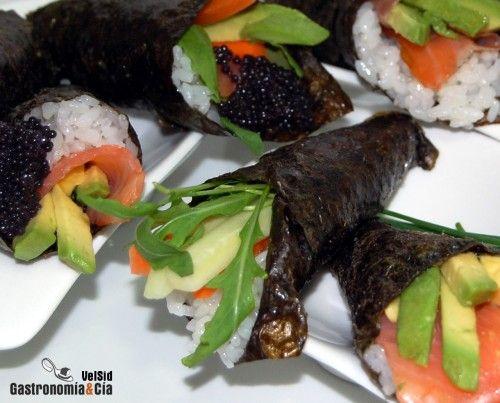 Sushi temaki: Recetas De Sushi, Comidas Japonesa, Recipes, To Prepare, Sushi Para, Temaki Sushi, Japanese Cuisine, Sushi Temaki, Kitchen