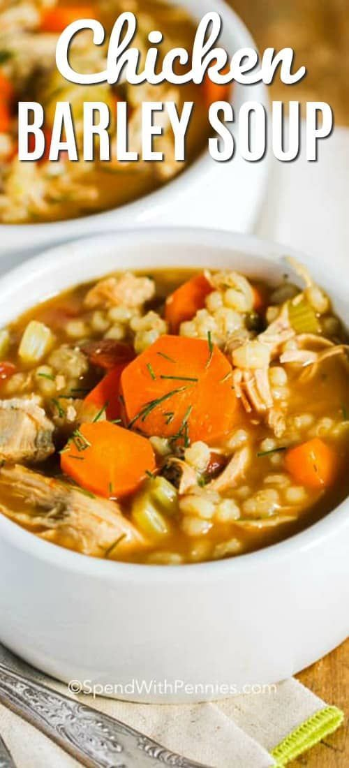 Apr 3, 2020 – Homemade Chicken Barley Soup! This perfect cool weather recipe will warm you from the inside out! Loads of…