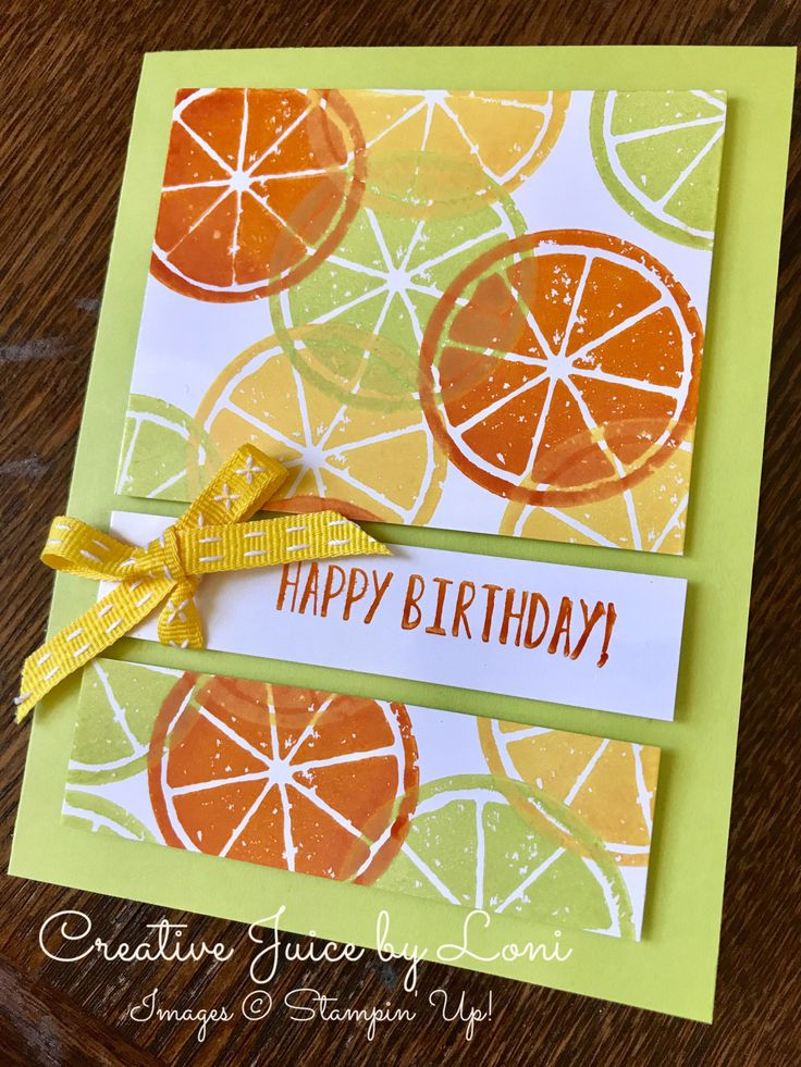 Lemon Zest Birthday Card, Stampin' Up! Creative Juice by Loni www.creativejuicebyloni.com