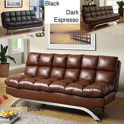 Pascoe Bicast Leather Sofa/ Futon