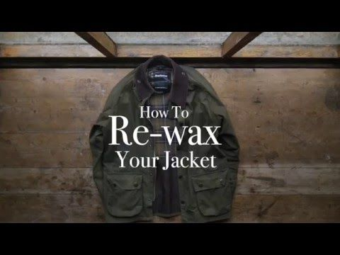 How to re-wax your Barbour jacket - Barbour's step-by-step guide - YouTube