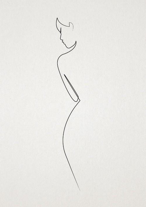 minimal fashion sketch