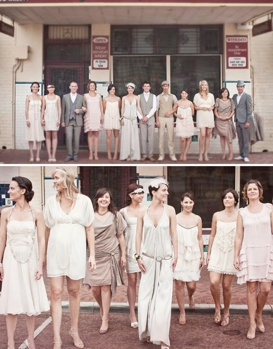 Roaring 20s Style Wedding Party