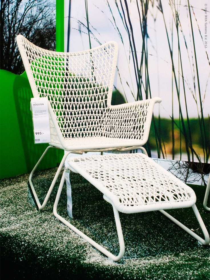 The chair Högsten in plastic rattan by Nike Karlsson for Ikea::