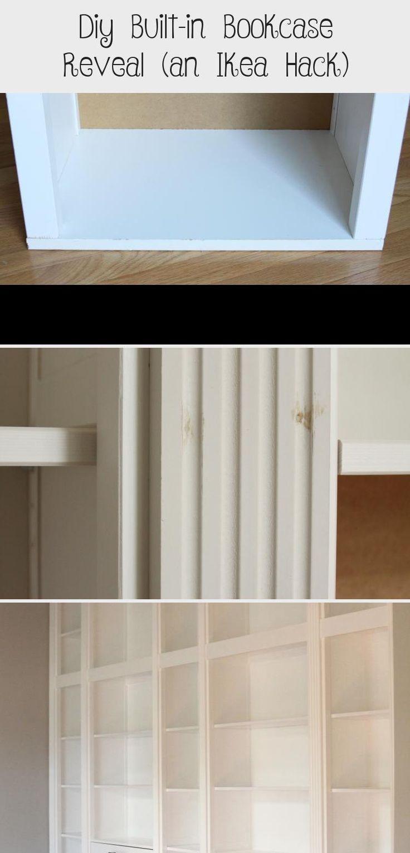 Diy Builtin Bookcase Reveal (an Ikea Hack in 2020 Ikea