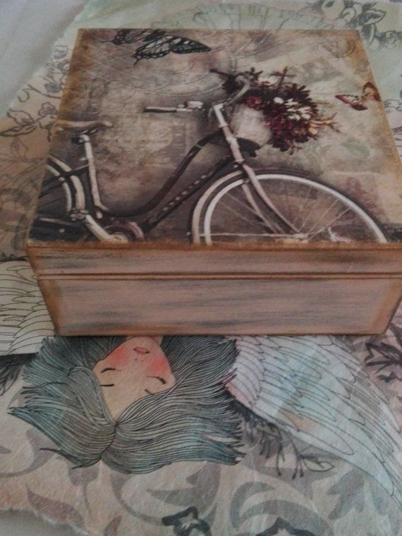 Shabby Chic Vintage Box by DecoupageIdeas on Etsy