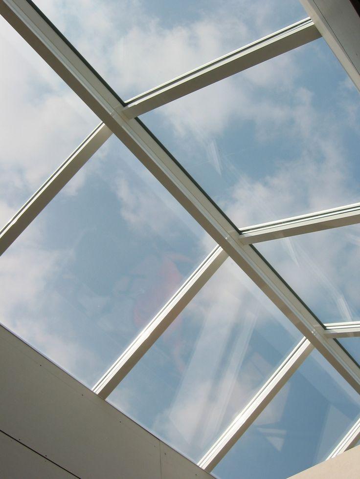 Zadeldak daglicht via het platte dak