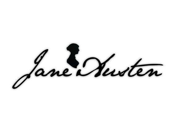 Jane Austen Signature Wall Art Adhesive by regencyaustenation