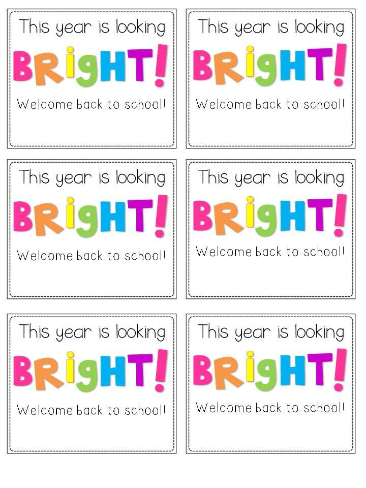 Back-to-School Student Gift Tags...A Freebie for You! - Second Grade Freebies