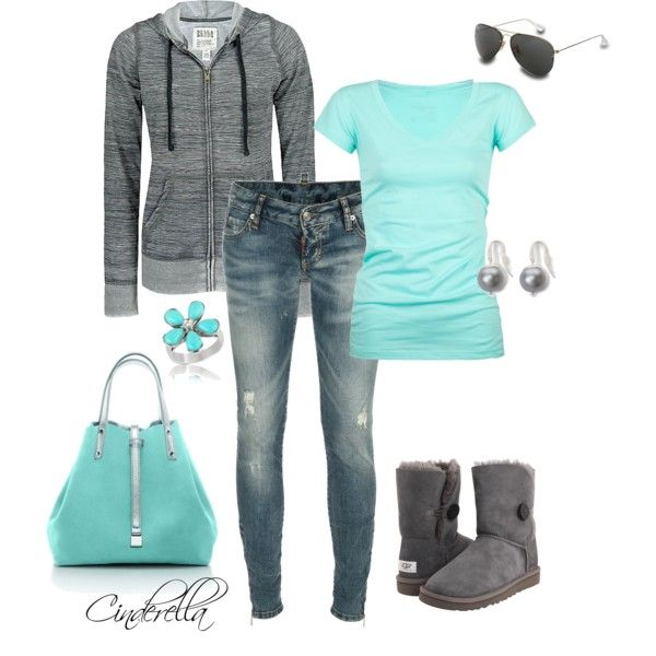 Loving these colors right now: Baby Blue, Casual Outfit, Skinny Jeans, Color Combos, Clothing, Blue W Grey, Tiffany Blue Outfit, Blue Grey, Boots