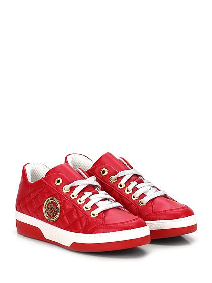 LOVE MOSCHINO - Sneakers - Donna - Sneaker in eco pelle con suola in gomma, tacco 40, platform 25 con battuta 15. - ROSSO - € 162.30