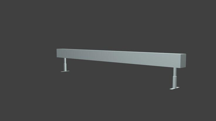 3D Model Skateboarding Rail - 3D Model
