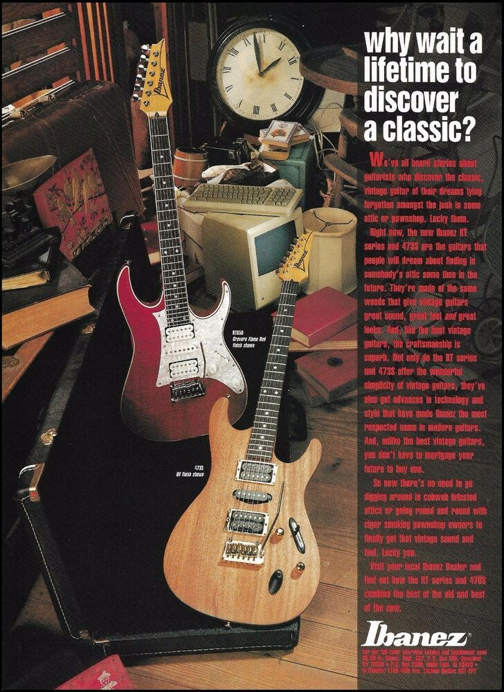 Ibanez RT & SV Series Guitars RT650 & 473S model guitar ad 1993