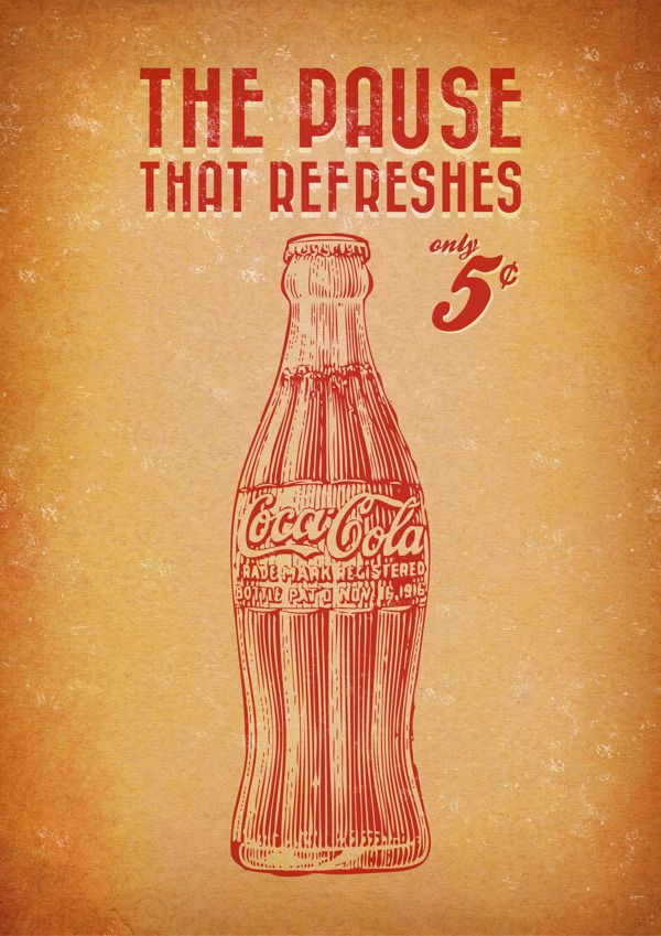 Coca Cola ® - Vintage posters on Behance