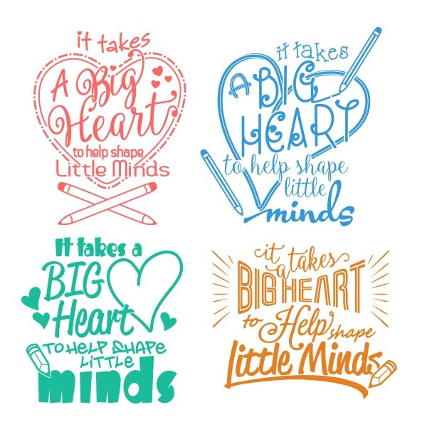 Big Heart - Little Minds Cuttable Design Cut File. Vector, Clipart, Digital Scrapbooking Download, Available in JPEG, PDF, EPS, DXF and SVG. Works with Cricut, Design Space, Cuts A Lot, Make the Cut!, Inkscape, CorelDraw, Adobe Illustrator, Silhouette Cameo, Brother ScanNCut and other software.