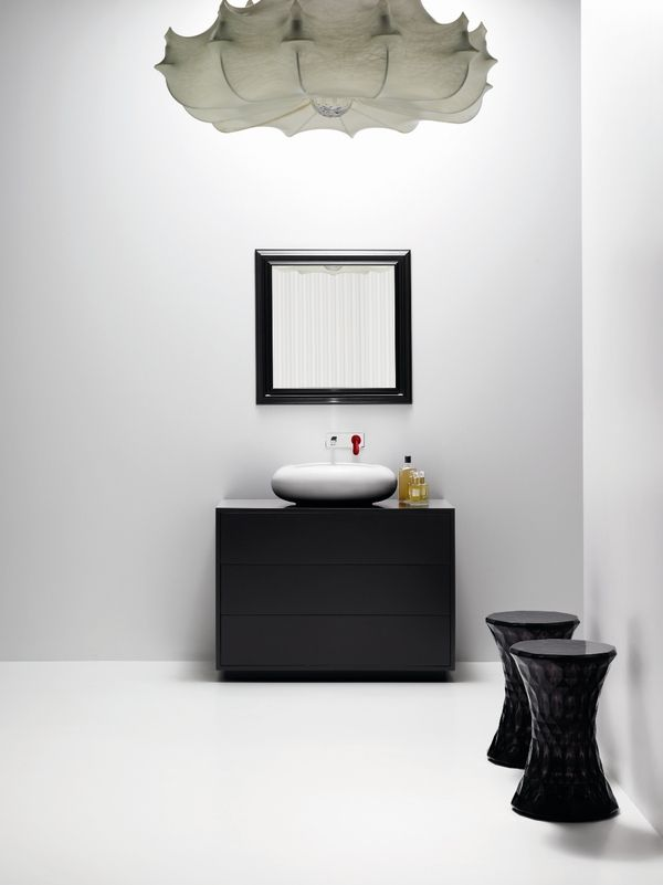 It's a pretty spectacular sight when a designer transcends design disciplines... Bisazza Bagno Collection and #Kartell Stone stool by Marcel Wanders