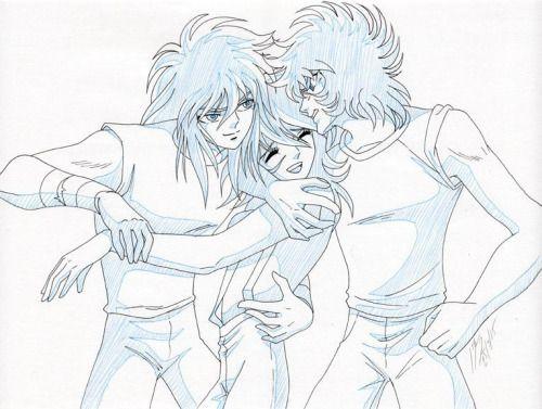 Shun, Hyoga e Ikki