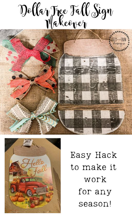 From a Dollar Tree Fall Sign to a Cute Picture Fra…