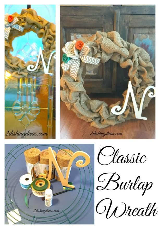 This Classic Burlap Wreath Will Bring Style To Your Front Door Or Any Wall Blog TopicsDiy