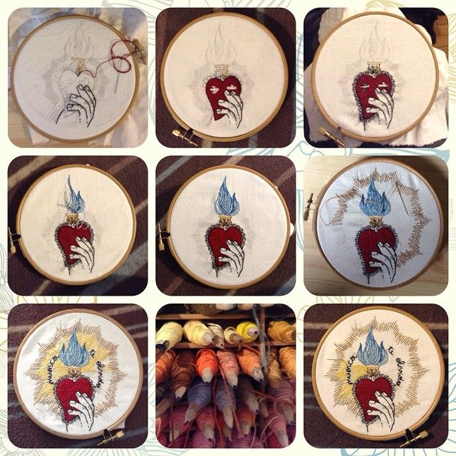 STEP by STEP | Sofia | filo di cotone su cotone #art #artoftheday #handmade #madeinitaly #ricamo #agoefilo #lettering #embroidery #textile #design #craft #fromanotheroom #rossellaogliarulo #rossellagiasai #artigianato