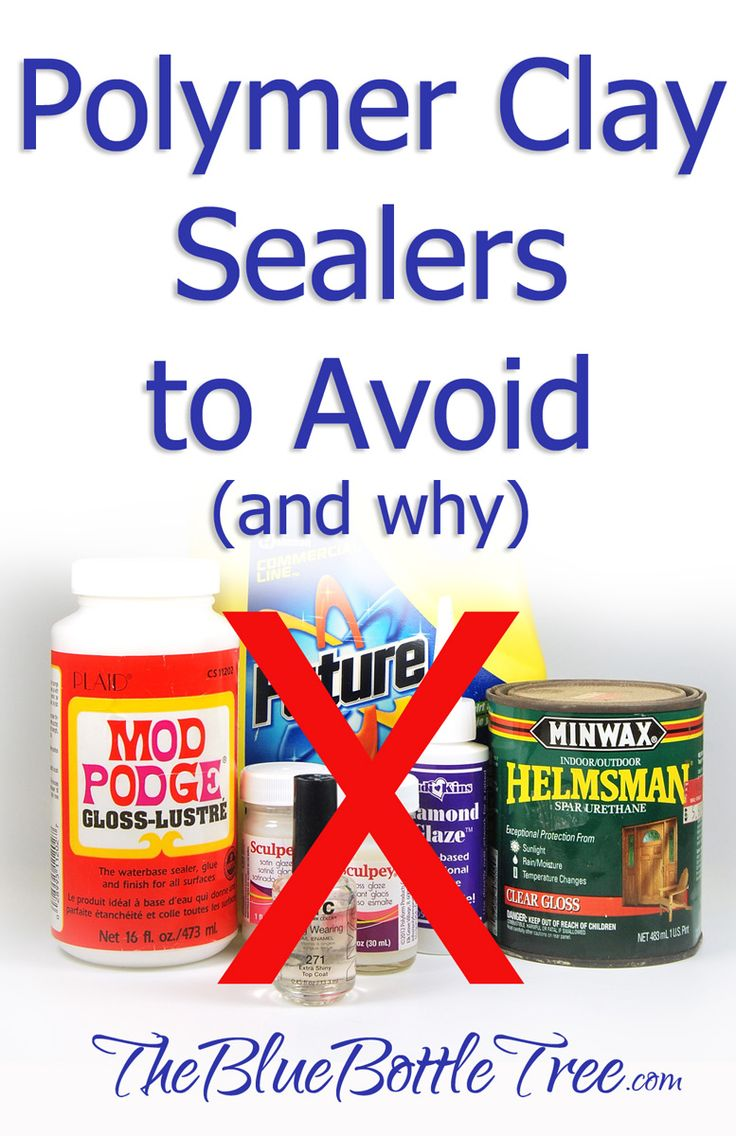 There are good sealers for polymer clay and then there are some that aren't so good. Find out which ones to use, and if you even need to use a sealer at all. Info at The Blue Bottle Tree.