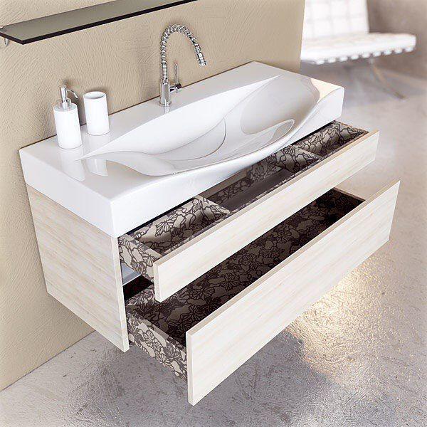 Нестандартная #раковина, которая устанавливается на #мебель.Такая раковина сэкономит место в ванной комнате и придаст ей #изысканность.