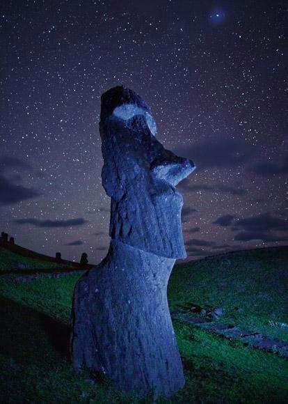 Moai. Isla de Pascua, Chile