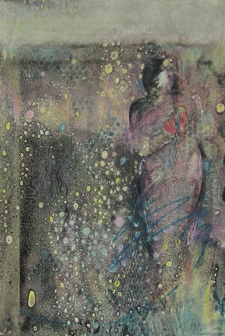Terri Allen, She says She's All Right~Citra Artist: Art from the Heart. Figure emerges from gray Citra background