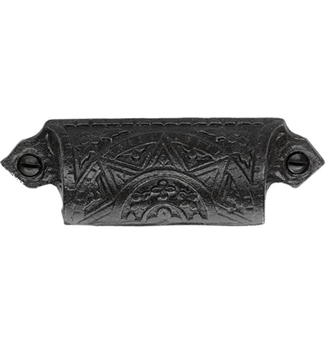 Star Bin Pull Center To Center, Cast Iron (Reproduction)
