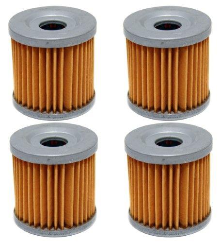 4 Pack Oil Filters Arctic Cat DVX 400, Kawasaki KFX 400