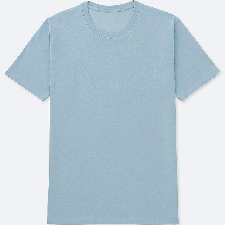 Men Packaged Dry Crewneck Short Sleeve T Shirt Light Blue Large Aesthetic Shirts Shirts T Shirt