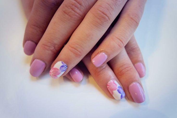 Floral spring nails  #spring #summer #nails