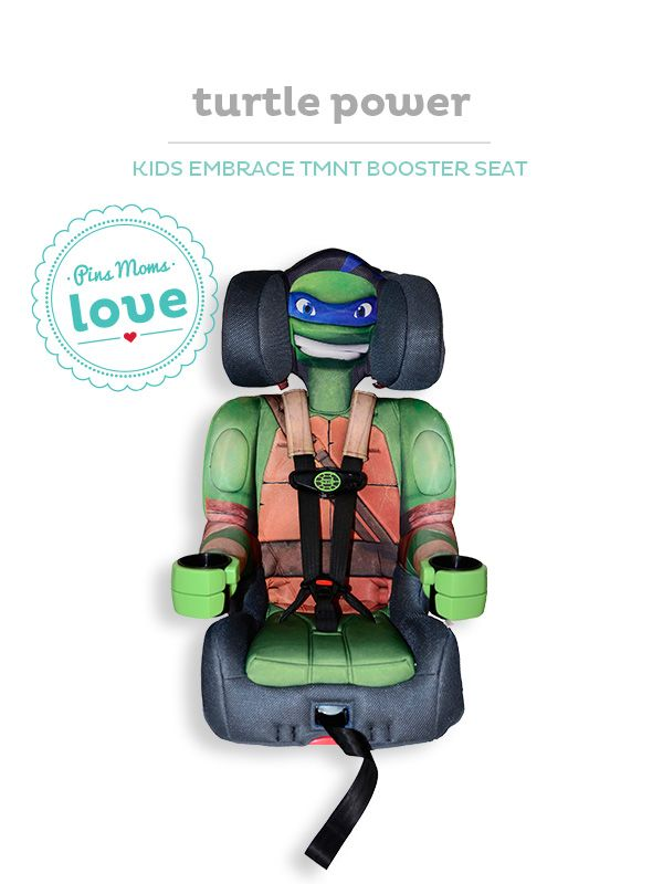 Keep your child protected with their favorite TMNT character booster seat.