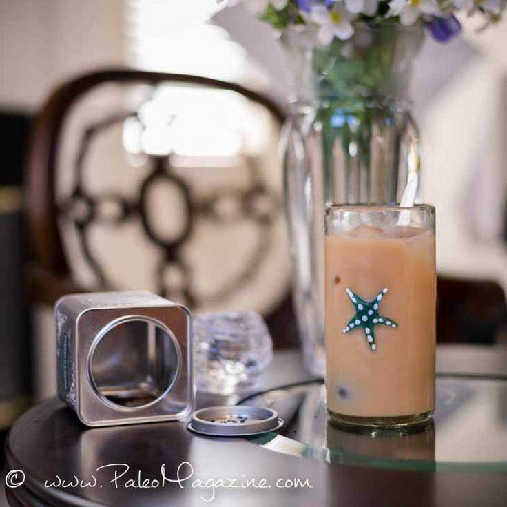 Jegestea-latte frissítő ital