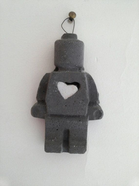 Lovely Concrete Lego Minifigure With Heart By Concreative On Etsy Awesome Design