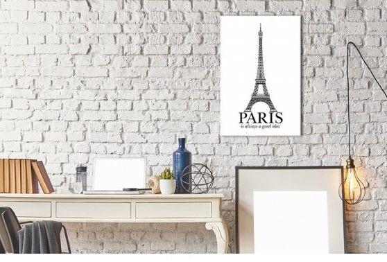 Paris est toujours une bonne idée ! #décorationmurale #poster #noiretblanc #textes #enanglais #bimago