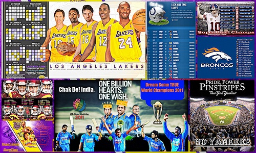 Favorite Sports Teams Collage    Go LAKERS! Go Colts, Bronocs, NY Giants! Go Yankees! Go USC Fight ON! Chak De! INDIA!!!!!    Gotta #Love #Sports