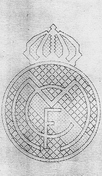 Escudo del Real Madrid a bolillo